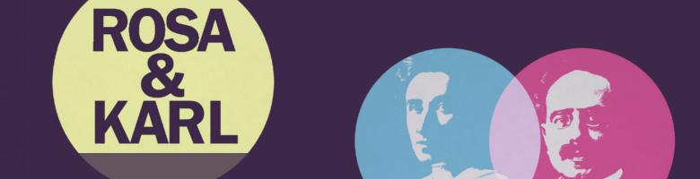 Banner des Rosa und Karl - Bündnis